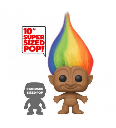 RAINBOW TROLL SUPER OVERSIZED / GOOD LUCK TROLLS / FIGURINE FUNKO POP