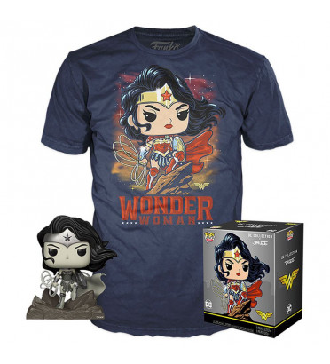 T-SHIRT L AVEC POP WONDER WOMAN / WONDER WOMAN / FIGURINE FUNKO POP