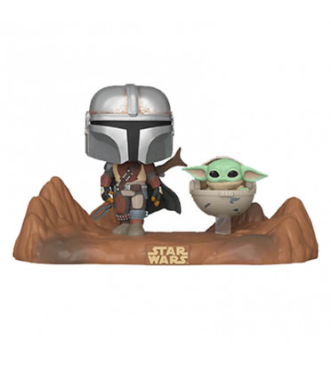 THE MANDALORIAN WITH THE CHILD / STAR WARS MOVIE MOMENTS / FIGURINE FUNKO POP