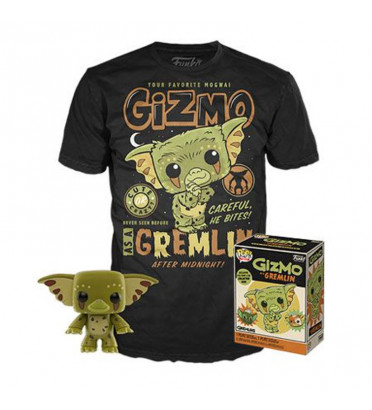 T-SHIRT M + POP GIZMO / GREMLINS / FIGURINE FUNKO POP