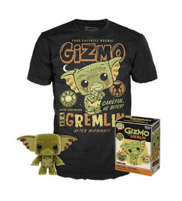 T-SHIRT L + POP GIZMO / GREMLINS / FIGURINE FUNKO POP