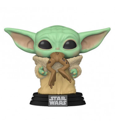 BÉBÉ YODA (THE CHILD) WITH FROG / STAR WARS THE MANDALORIAN / FIGURINE FUNKO POP