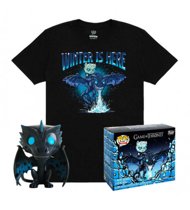 T-SHIRT L AVEC POP ICY VISERION / GAME OF THRONES / FIGURINE FUNKO POP
