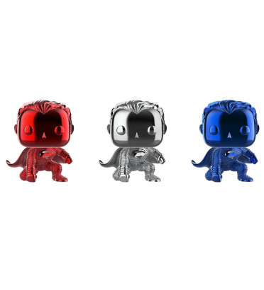 3 PACK SUPERMAN CHROME / JUSTICE LEAGUE / FIGURINE FUNKO POP / EXCLUSIVE NYCC 2018