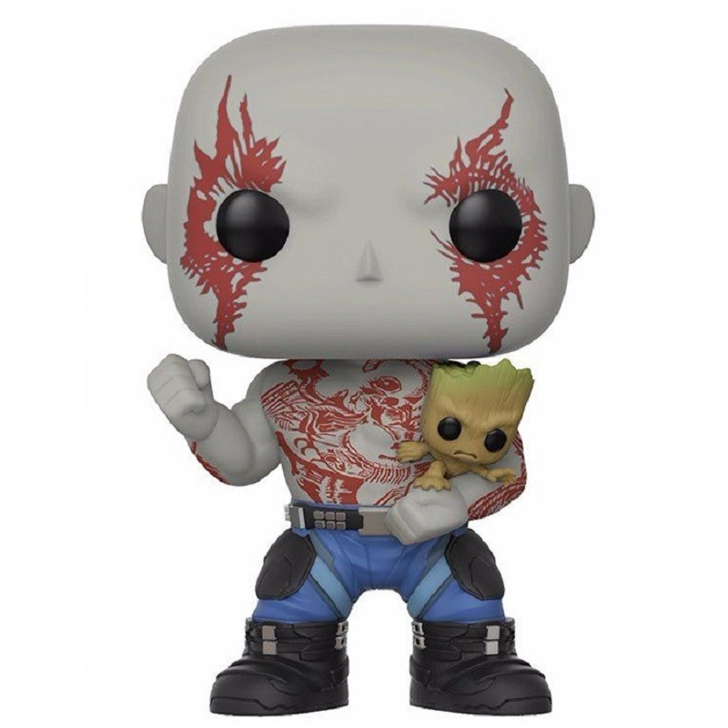 DRAX AVEC GROOT / LES GARDIENS DE LA GALAXIE / FIGURINE FUNKO POP / EXCLUSIVE