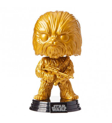 CHEWBACCA GOLD / STAR WARS / FIGURINE FUNKO POP / EXCLUSIVE SPECIAL EDITION