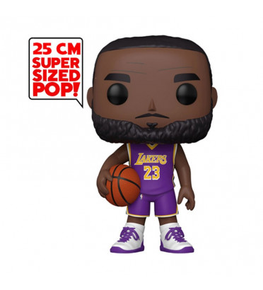 LEBRON JAMES MAILLOT VIOLET SUPER OVERSIZED / LOS ANGELES LAKERS / FIGURINE FUNKO POP