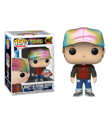 MARTY IN FUTURE OUTFIT METALLIC / RETOUR VERS LE FUTUR / FIGURINE FUNKO POP