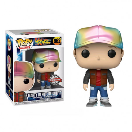 MARTY IN FUTURE OUTFIT METALLIC / RETOUR VERS LE FUTUR / FIGURINE FUNKO POP / EXCLUSIVE SPECIAL EDITION