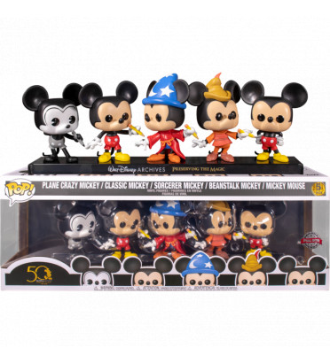 5 PACK MICKEY MOUSE 50 TH ANNIVERSARY / MICKEY MOUSE / FIGURINE FUNKO POP / EXCLUSIVE SPECIAL EDITION