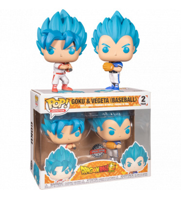 2 PACK GOKU ET VEGETA BASEBALL / DRAGON BALL SUPER / FIGURINE FUNKO POP / EXCLUSIVE SPECIAL EDITION