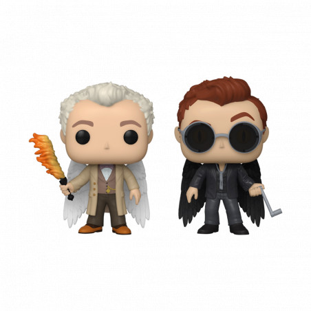 2 PACK AZIRAPHALE AND CROWLEY / GOOD OMENS / FIGURINE FUNKO POP / SPECIALTY SERIES