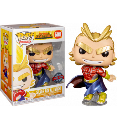SILVER AGE ALL MIGHT METALLIC / MY HERO ACADEMIA / FIGURINE FUNKO POP / EXCLUSIVE SPECIAL EDITION