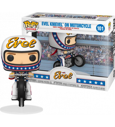 EVEL KNIEVEL ON MOTORCYCLE / EVEL KNIEVEL / FIGURINE FUNKO POP