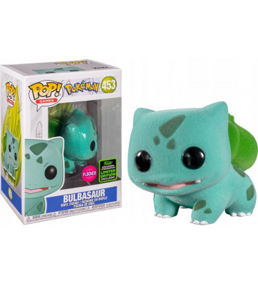 BULBASAUR FLOCKED / POKEMON / FIGURINE FUNKO POP / EXCLUSIVE ECCC 2020