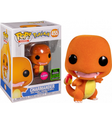 CHARMANDER FLOCKED / POKEMON / FIGURINE FUNKO POP / EXCLUSIVE ECCC 2020