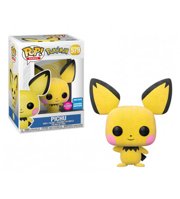 PICHU FLOCKED / POKEMON / FIGURINE FUNKO POP / EXCLUSIVE WONDROUS 2020