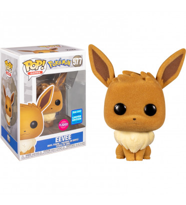 EEVEE FLOCKED / POKEMON / FIGURINE FUNKO POP / EXCLUSIVE WONDROUS 2020