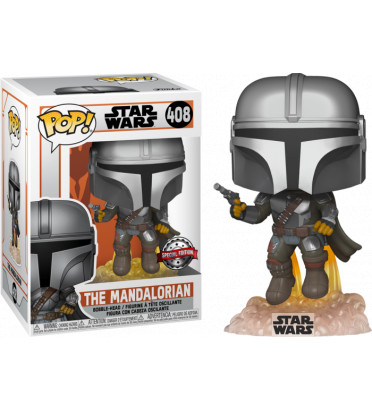 THE MANDALORIAN WITH JET PACK / STAR WARS THE MANDALORIAN / FIGURINE FUNKO POP / EXCLUSIVE SPECIAL EDITION