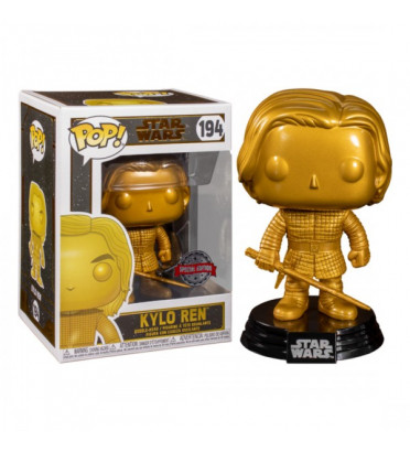 KYLO REN METALLIC GOLD / STAR WARS / FIGURINE FUNKO POP / EXCLUSIVE SPECIAL EDITION