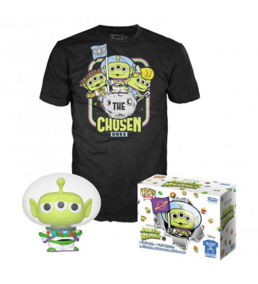 T-SHIRT M AVEC POP ALIEN REMIX AS BUZZ / ALIEN REMIX / FIGURINE FUNKO POP