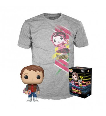 T-SHIRT M + POP MART MC FLY / RETOUR VERS LE FUTUR / FIGURINE FUNKO POP