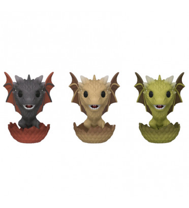 3- PACK DROGON,VISERION,RHAEGAL / GAME OF THRONES / FIGURINE FUNKO POP / EXCLUSIVE ECCC 2020