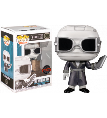THE INVISIBLE MAN BLACK AND WHITE / MONSTERS / FIGURINE FUNKO POP / EXCLUSIVE SPECIAL EDITION