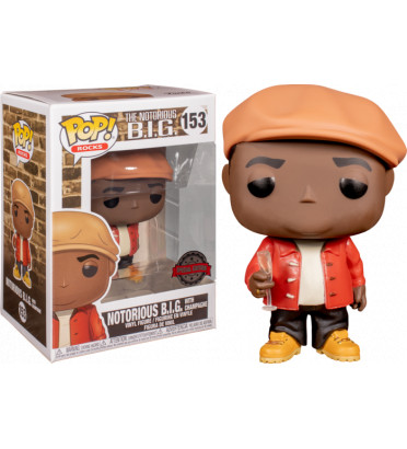 NOTORIOUS BIG WITH CHAMPAGNE / NOTORIOUS BIG / FIGURINE FUNKO POP / EXCLUSIVE SPECIAL EDITION