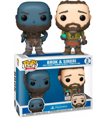 2 PACK BROC AND SINDRI / GOD OF WAR / FIGURINE FUNKO POP / EXCLUSIVE SPECIAL EDITION