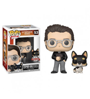 STEPHEN KING WITH MOLLY / STEPHEN KING / FIGURINE FUNKO POP / EXCLUSIVE SPECIAL EDITION