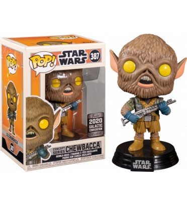 CHEWBACCA CONCEPT SERIES / STAR WARS / FIGURINE FUNKO POP / EXCLUSIVE GALACTIC CONVENTION 2020