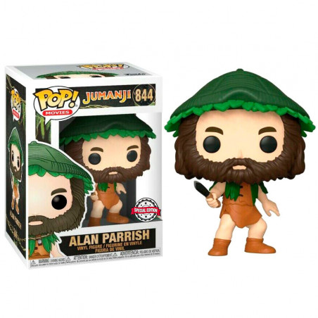 ALAN PARRISH WITH KNIFE / JUMANJI / FIGURINE FUNKO POP / EXCLUSIVE SPECIAL EDITION