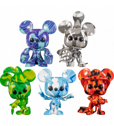 PACK DE 5 MICKEY ARTIST SERIES / MICKEY MOUSE / FIGURINE FUNKO POP / EXCLUSIVE SPECIAL EDITION