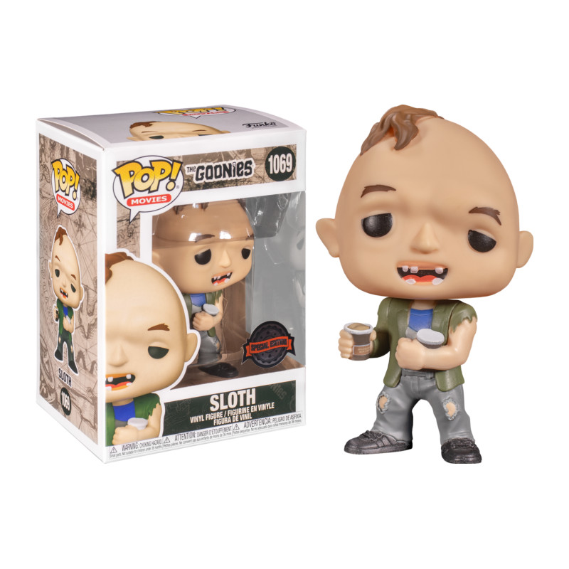 SLOTH WITH ICE CREAM / THE GOONIES / FIGURINE FUNKO POP / EXCLUSIVE SPECIAL EDITION