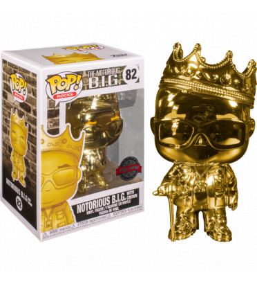NOTORIOUS BIG WITH CROWN GOLD CHROME / NOTORIOUS BIG / FIGURINE FUNKO POP / EXCLUSIVE SPECIAL EDITION