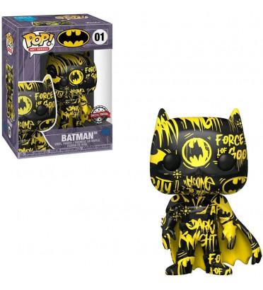BATMAN ARTIST SERIE BLACK YELLOW WITH PROTECTOR CASE / BATMAN / FIGURINE FUNKO POP
