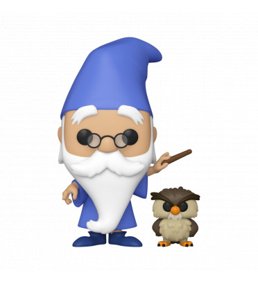 MERLIN WITH ARCHIMEDES / THE SWORD IN THE STONE / FIGURINE FUNKO POP